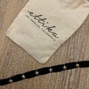 Ettika Black Velvet Choker Necklace